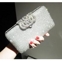 Buy cheap New bride's wedding bag diamond lady versatile banquet clutch evening dress bags from wholesalers