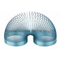 Buy cheap Blue Colored Metal Slinky , Metal Coil Spring Toy Eco Friendly Material product