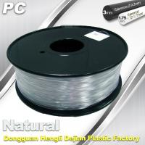Quality Good Transmission of Light PC 3D Printer Transparent Filament 1.75mm / 3.0mm for sale