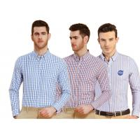 Buy cheap wholesale 2018 spring new men's cotton striped shirt youth oxford long-sleeved shirt OEM logo from wholesalers