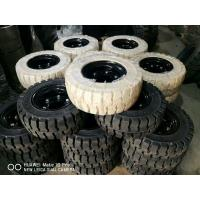 Buy cheap Solid Forklift Tires 10 - 28 Forklift Spare Parts Low Speeding High Pressure Performance from wholesalers