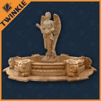 Buy cheap Natural Yellow Garden Water Fountains With Mermaid / Fairy Statue from wholesalers