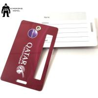 Buy cheap Personalized	PVC Business Cards Offset Printing , Travel Luggage Name Tag Airlines supply product
