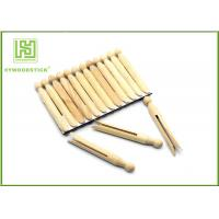 Buy cheap House Decorative Notched Craft Sticks , 110mm Wooden Fan Sticks Taste - Free from wholesalers