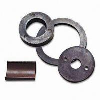 Buy cheap customized sheet shape permanent ferrite magnetic magnet ring from wholesalers
