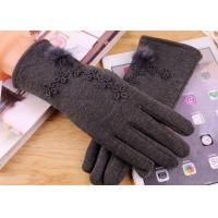 Buy cheap Micro Velvet Womens Fleece Gloves , Soft Smatouch Gloves With Fur Lining from wholesalers