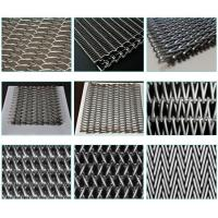 Custom Chain Link Conveyor Belt , Furnace Use Metal Mesh Conveyor Belt