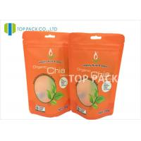 Buy cheap Food Grade Clear Window Stand Up Food Pouches Zipper Matte Finished Chia Seeds from wholesalers