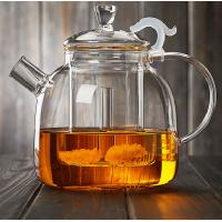 Buy cheap 1900ML Heat-Resisitant Microwave Safe Glass Tea Pot Coffee Maker Infuser With Glass Basket Direct From Factory from wholesalers