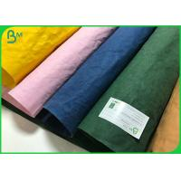 Buy cheap Biodegradable Washable Paper Multi Coloured 0.55mm Washed Paper For Plant Bag from wholesalers