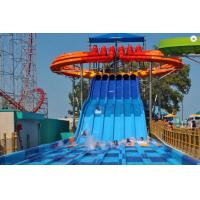 Buy cheap Blue Race Fiberglass Adult 6 Lines Water Slides 15m Platform Height For Water Park from wholesalers