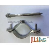 Buy cheap Wall Mount Pipe Bracket Cast Iron Pipe Clamps With Nut Tapping Screw Nylon Plug from wholesalers