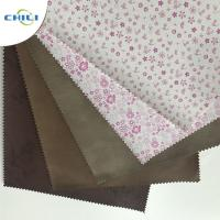 Buy cheap Embossed  PU Leather Fabric Advanced Technology Thick  Polyestermaterial from wholesalers