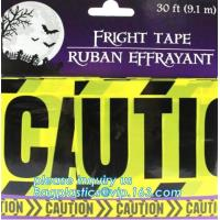 Buy cheap Halloween Birthday Party theme warning caution PE tapes for event decoration,Halloween Caution Tapes,Halloween Warning T from wholesalers