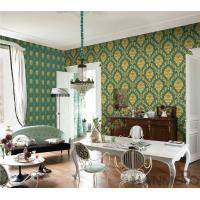 Buy cheap PVC Wallpaper  Damask Chinese Wallcovering Vendor European Style Room Sofa Background from wholesalers