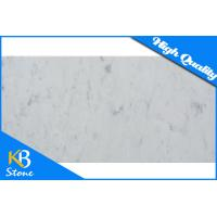 China Polished Bianco White Carrara Stone Marble Tiles For Hotel / Home Decoration Wall Sheet on sale