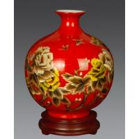 Buy cheap Flower vase with wheat straw painting, special vase for flowers from wholesalers