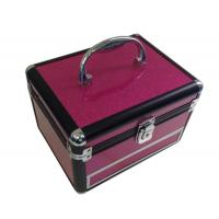 Buy cheap Purple Aluminum Cosmetic Cases / Cosmetic Train Cases Makeup With Drawer from wholesalers