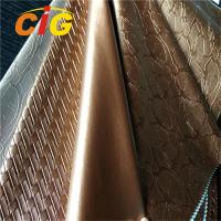 Buy cheap Waterproof Anti - Mildew Washed Finished PVC Artificial Leather product