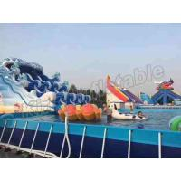 Buy cheap 2 Years Warranty Animal Inflatable Water Parks With Frame Pool / Cartoon Slide from Wholesalers