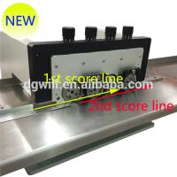 Buy cheap Adjustabled Vertical LED Strip PCB Depanelizer / PCB Scoring Machine With V Groove from wholesalers