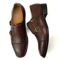 Buy cheap Cow Leather Dress Shoes Summer Men Oxford Shoes with Double Buckle from wholesalers