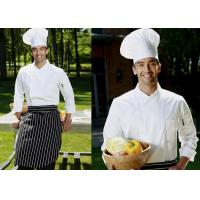 Buy cheap Long Sleeve Custom Work Shirts , Double Breasted Side Open Chief Cook Uniform from wholesalers