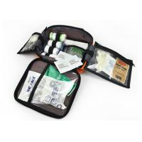 Buy cheap Medium Size First Aid Bag Multi Pockets, Orange Emergency Kit Bag With Handle from wholesalers