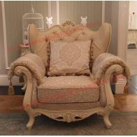 Buy cheap Luxury French-type Sofa set made by Wooden Carving Frame with Fabric Upholstery from wholesalers