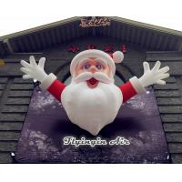 Buy cheap 4m Height Christmas Inflatable Santa Claus for Outdoor Wall Decoration from wholesalers