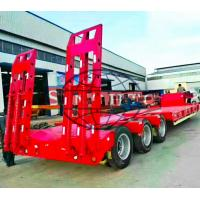 Buy cheap 3 Axles Gooseneck Low Bed Semi Trailer For Excavator Transport 60 Ton Load from wholesalers