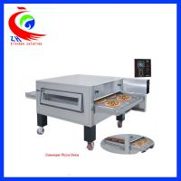 Buy cheap Hot Air Circulation System Electric Pizza Oven Flat Griddle Pan With Wheel from wholesalers