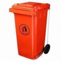 Buy cheap Plastic Trash Can with 120L Capacity and 4mm Thickness from wholesalers