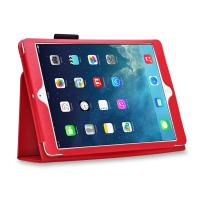 Buy cheap Lady Luxury Lichi Leather iPad Cases with Stand Smart Folio , Red Color from wholesalers