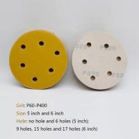 Buy cheap Hook / Loop Round Sanding Paper , Aluminum Oxide Abrasive 5 Inch Round Sanding Discs from wholesalers