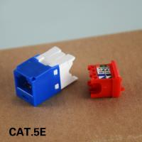 Buy cheap UTP Cat5e RJ45 Keystone Jack 180 Degree Category 5e Network Modular Jacks 5 Colors from wholesalers