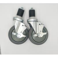 Buy cheap 5 Inch Locking Expanding Stem Casters For Food Service Equipment Zin Plate from wholesalers