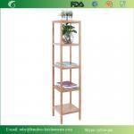 Buy cheap Bamboo Bathroom Tower 5-Shelf Towel Storage Standing Rack Shelving from wholesalers