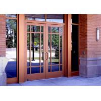 Buy cheap Tempered Insulated Powder Coated Aluminium Door Hinge Adjustment With Glass from wholesalers