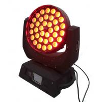 Buy cheap 18w Rgbwa Uv Led Moving Head Spot Light With Zoom , Dj Stage Lights from wholesalers