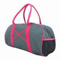 Buy cheap 600D polyester travel bag, customized printings are accepted from wholesalers
