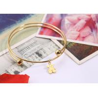 Buy cheap OEM / ODM Stainless Steel Bangles Personalised Charm Bracelet With Pendant from wholesalers