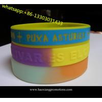Buy cheap HOT sale!Custom design colorful silicon wristband,best printed rubber wristband from wholesalers