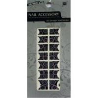 Buy cheap Customized No Smelly Removable Black French Nail Stickers Art With Metal / Glass from wholesalers