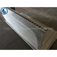 Buy cheap Durable Wedge Wire Screen Panels 1mm Slot For Liquid / Solid Filtration from wholesalers