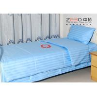 Buy cheap 100% Cotton Stripe Flat Hospital Bed Sheet Disposable Light Blue Color BS-11 from wholesalers