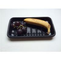 Buy cheap Black Small PP Food Tray , Take Away Plastic Containers With Lids For Banner product