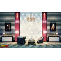 Buy cheap Polyvinyl Chloride Home Decor Wallpapers Stereoscopic Textured 3D Wall Panel for Exhibition from wholesalers
