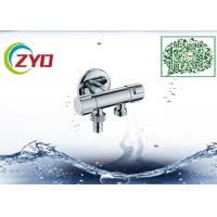 Buy cheap Two Way Plumbing Shower Diverter , Brass Nickel Brushed Shower Splitter Valve from wholesalers