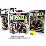 Buy cheap Laminated Vacuum Bags Custom Printing NYLON / LLDPE Frozen Food Mussel Vacuum Packaging Bags from wholesalers
